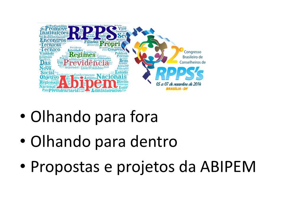 Olhando para fora Olhando para dentro Propostas e projetos da ABIPEM