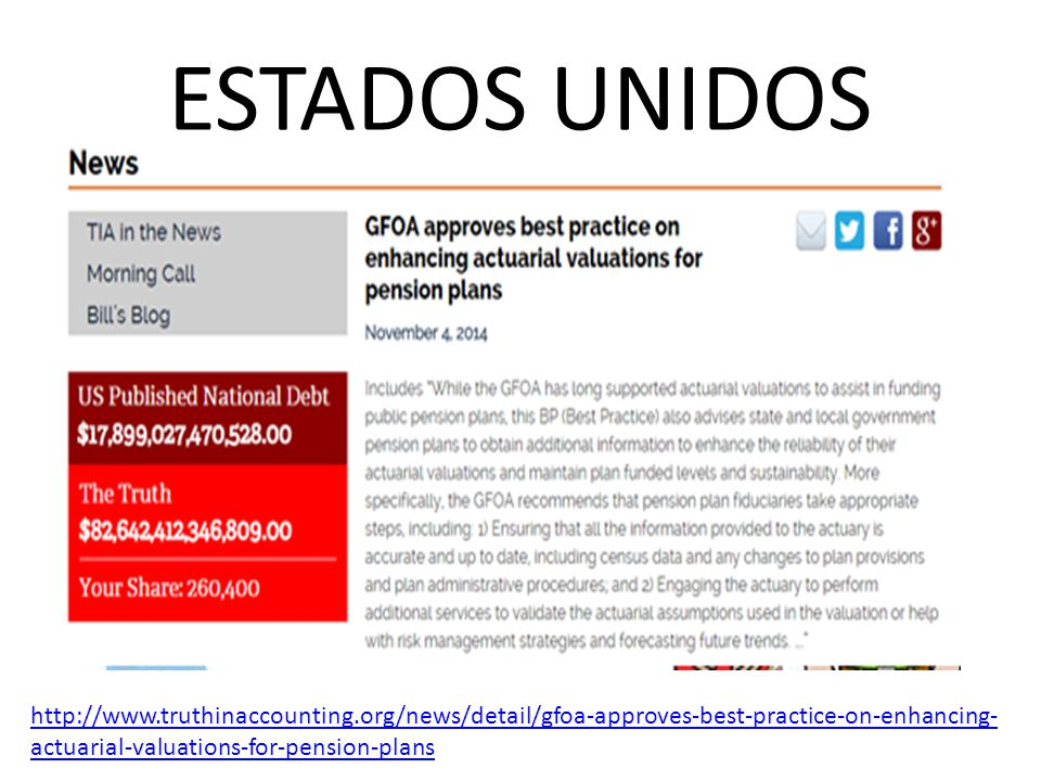 ESTADOS UNIDOS http://www.truthinaccounting.org/news/detail/gfoa-approves-best-practice-on-enhancing- actuarial-valuations-for-pension-plans