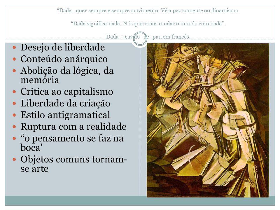 Surrealismo Não é um estilo, é um grito da mente que se volta para si mesma – Artaud Freud Maior conhecimento do humano Valorização da fantasia, do sonho Interesse pela loucura e pelo inconsciente Fluxo de consciência