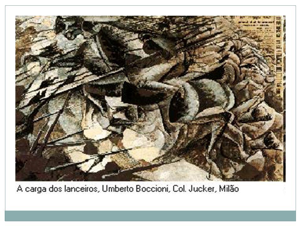 Idéia de movimento, própria de um ataque de cavalaria, construída pela sobreposição de imagens.