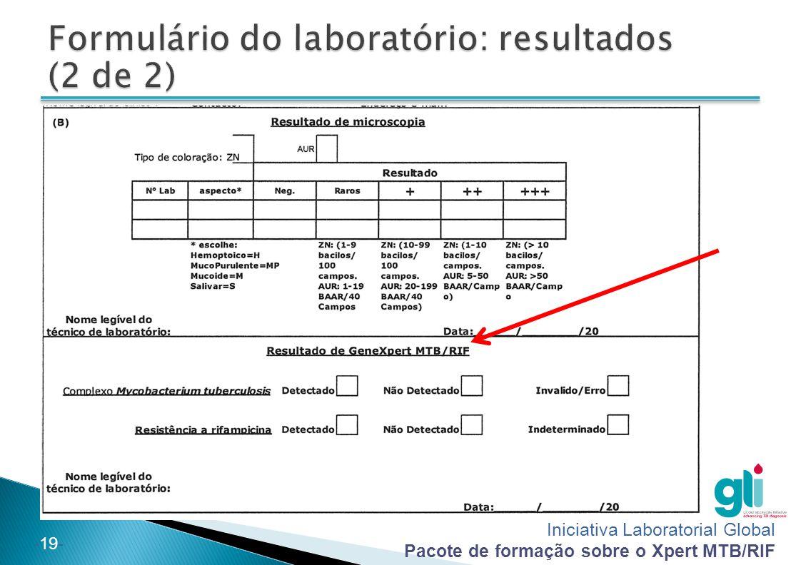 Iniciativa Laboratorial Global Pacote de formação sobre o Xpert MTB/RIF -19-