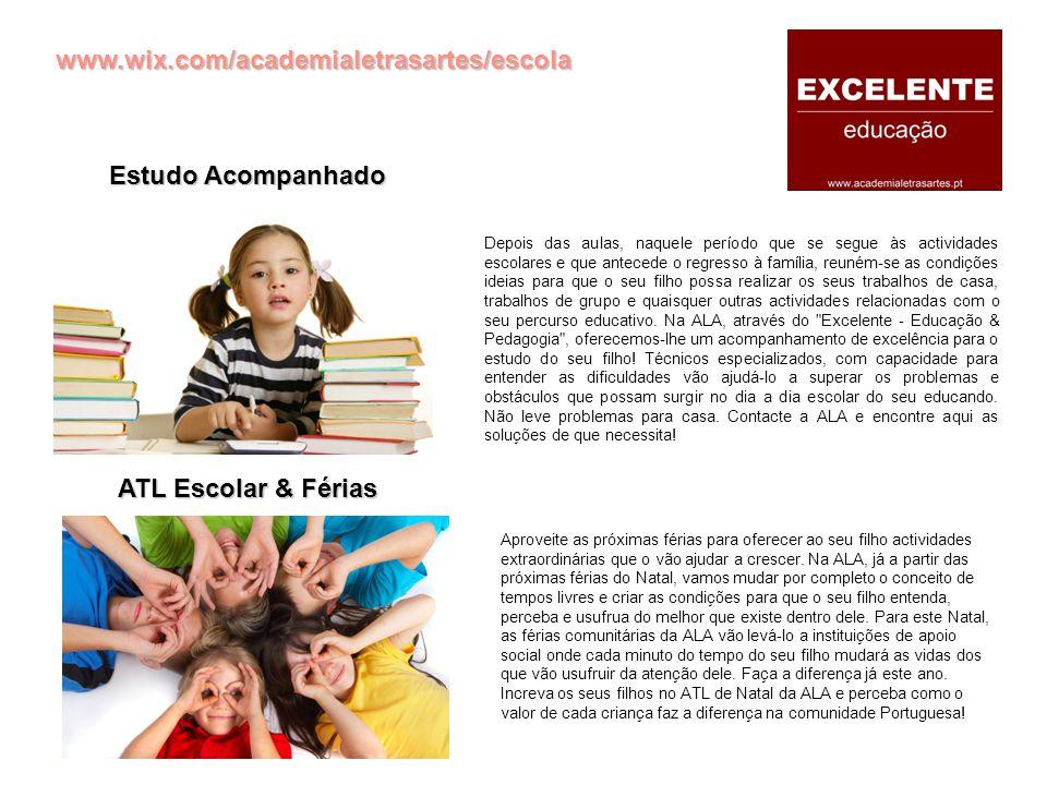 www.wix.com/academialetrasartes/escola Dificuldades de Aprendizagem Explicações & Apoio Educativo As dificuldades de aprendizagem não são um problema irresolúvel e inultrapassável no percurso escolar e educativo de uma criança.