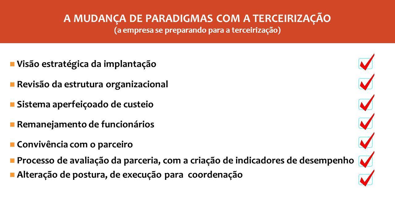 UMA DAS CARACTERÍSTICAS PRINCIPAIS DA TERCEIRIZAÇÃO SER UTILIZADA NAS EMPRESAS ESTÁ NA IDENTIFICAÇÃO E CONCENTRAÇÃO EFETIVA NO SEU CORE BUSINESS (atividade principal)