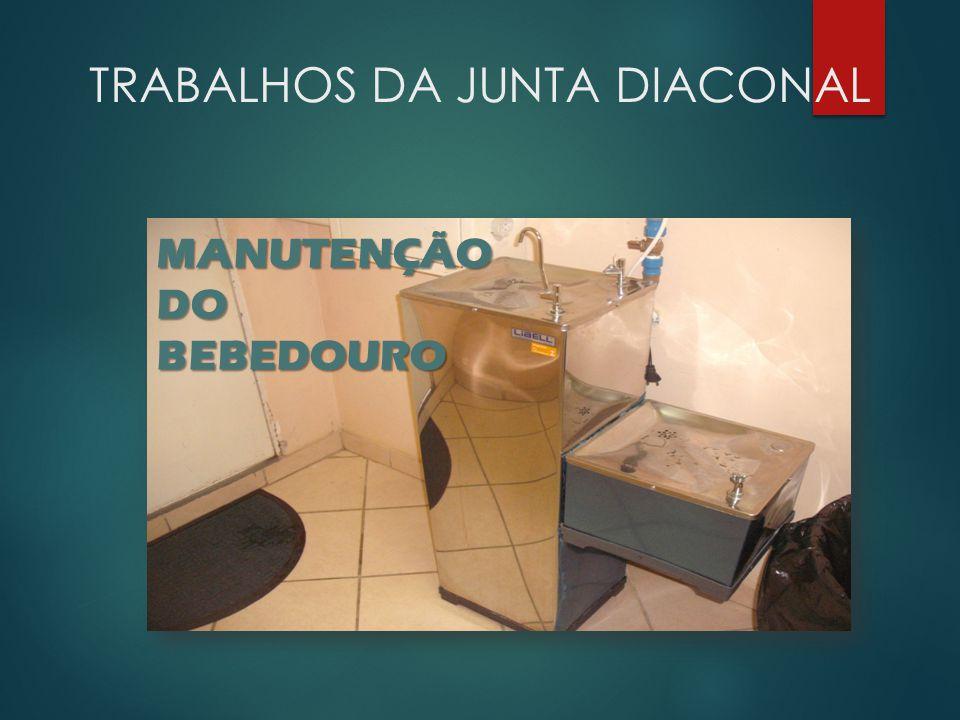 TRABALHOS DA JUNTA DIACONAL PINTURA DA SALA PRIMEIROS PASSOS