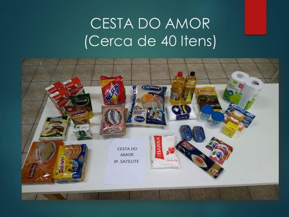 CESTA DO AMOR Armazenamento de alimentos recebidos pela Diaconia da IPSAT