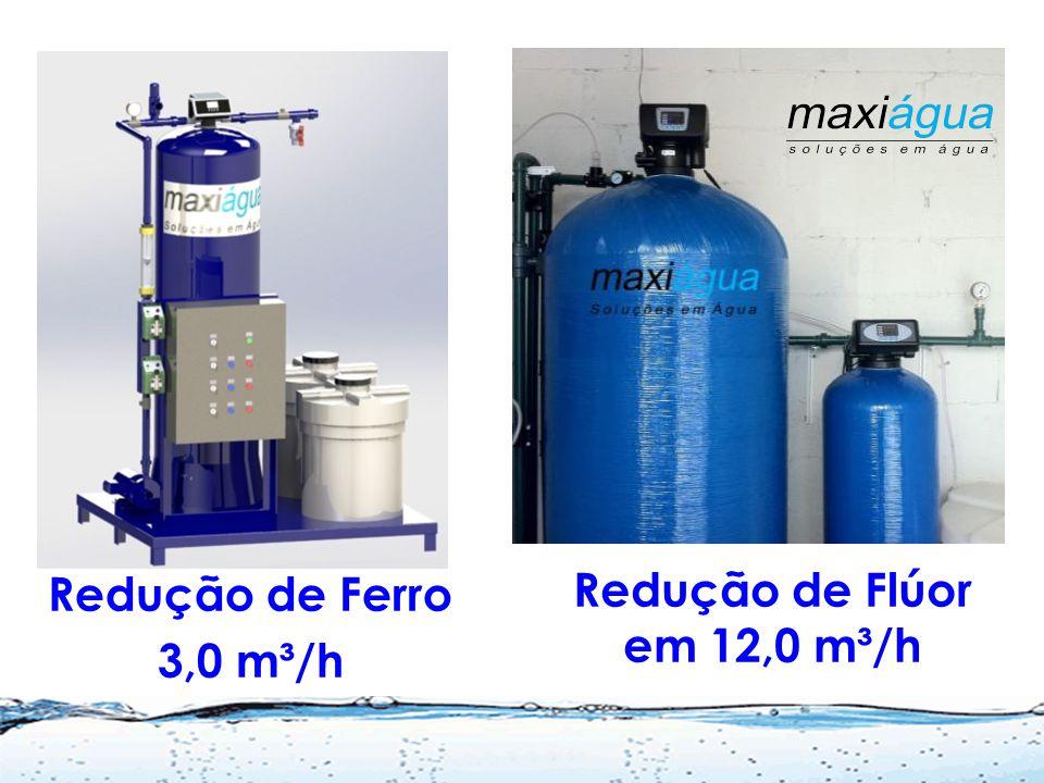 Problemas Usais e Soluções Excesso de metais (Fe,Mn, etc.)= Remoção Incrustações por Fe e Mn = Ortopolifosfato Excesso de Flúor, Nitrato, etc.= Reduçã