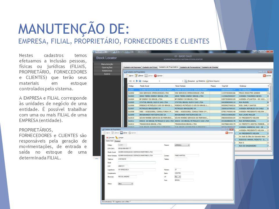 OPERAÇÕES: SERVIÇOS, TAREFAS E ATIVIDADES 17 Os serviços, tarefas e atividades gerados podem ser gerenciados através desta interface.