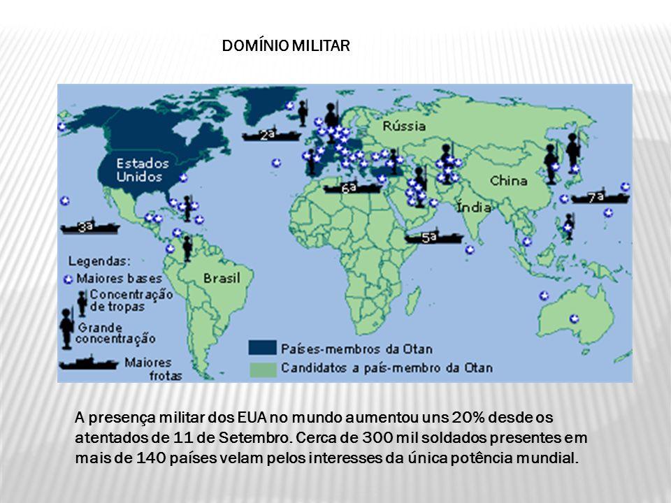 A presença militar dos EUA no mundo aumentou uns 20% desde os atentados de 11 de Setembro.