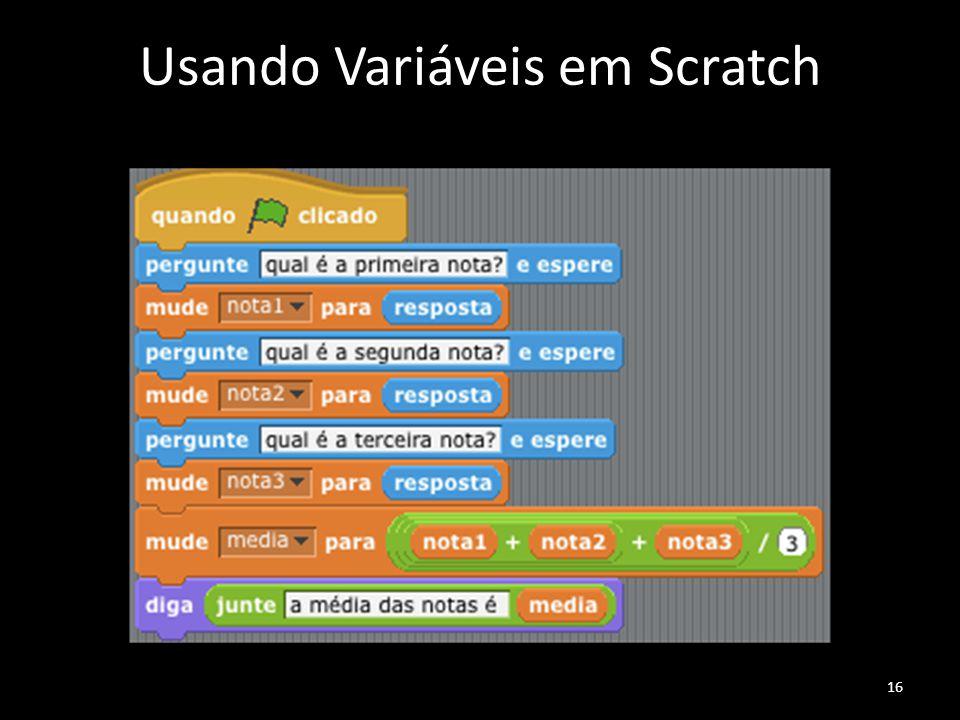Usando Variáveis em Scratch 16