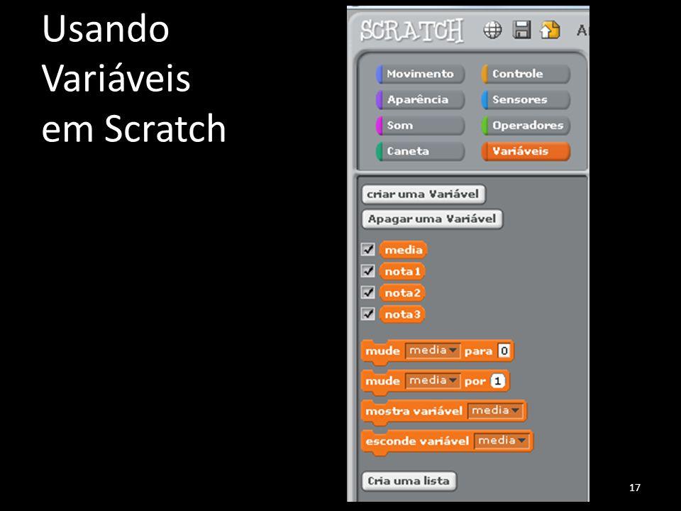 Usando Variáveis em Scratch 17