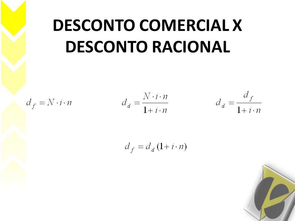 DESCONTO COMERCIAL X DESCONTO RACIONAL