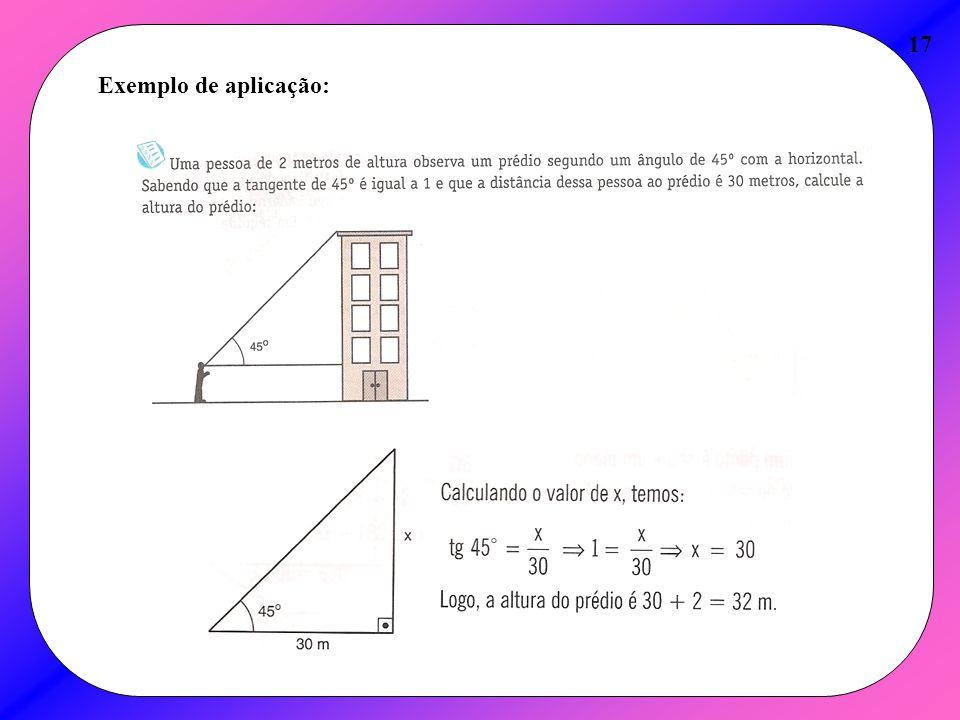 Exemplo de aplicação: 17
