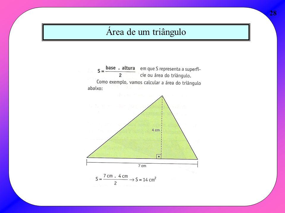 Área de um triângulo 28