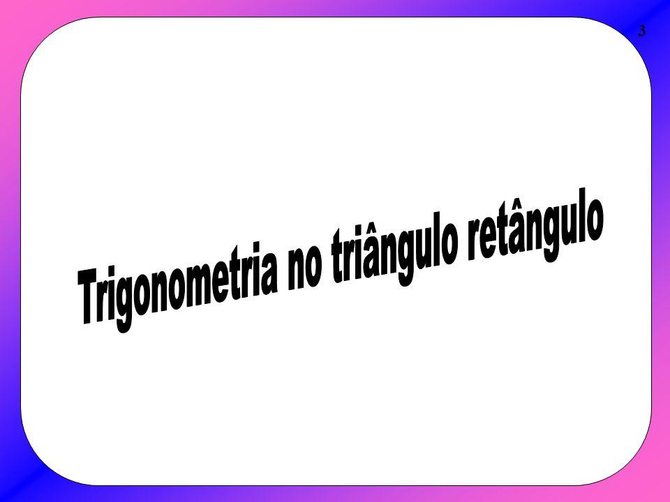 Teorema ou Lei dos Senos 24 A lei dos senos pode ser utilizada em qualquer triângulo.