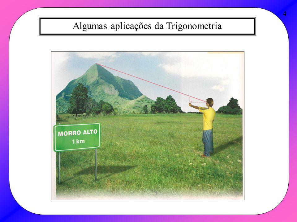 Aplicação da Lei dos Senos 25 A Lei dos Senos é geralmente usada, quando são conhecidos 2 ângulos internos e a medida do cateto oposto a um desses ângulos.