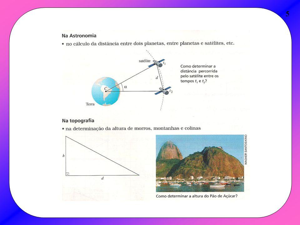 Teorema ou Lei dos Cossenos 26 A Lei dos Cossenos é geralmente usada, quando são conhecidas as medidas de dois lados e o ângulo formado por eles.