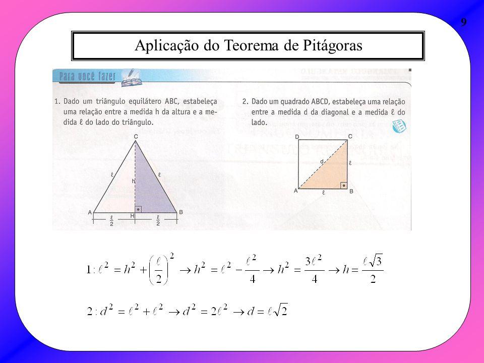 Aplicação do Teorema de Pitágoras 9