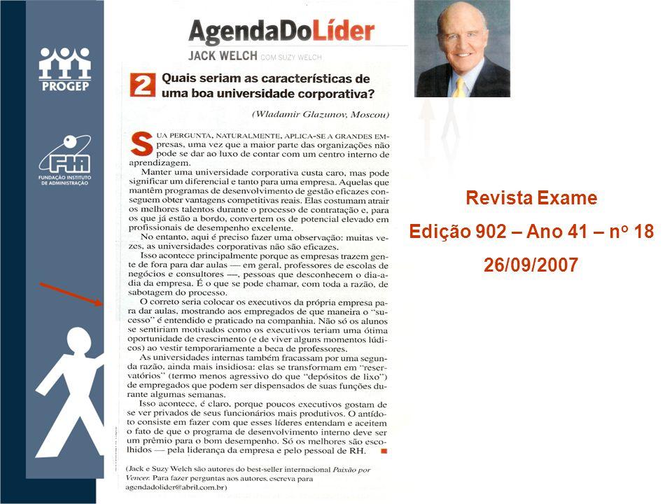 Revista Exame Edição 902 – Ano 41 – n o 18 26/09/2007