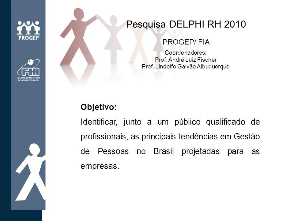 Objetivo: Identificar, junto a um público qualificado de profissionais, as principais tendências em Gestão de Pessoas no Brasil projetadas para as empresas.