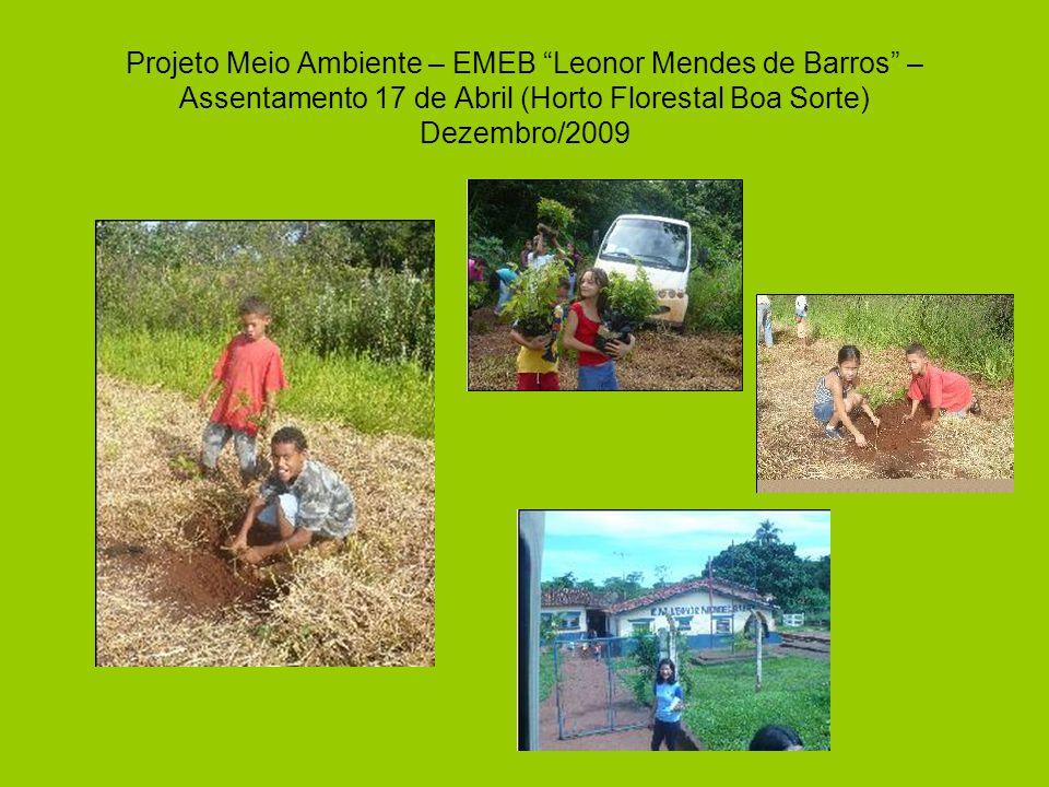 Projeto Meio Ambiente – EMEB Leonor Mendes de Barros – Assentamento 17 de Abril (Horto Florestal Boa Sorte) Dezembro/2009