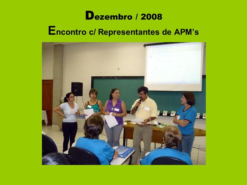 D ezembro / 2008 E ncontro c/ Representantes de APM's