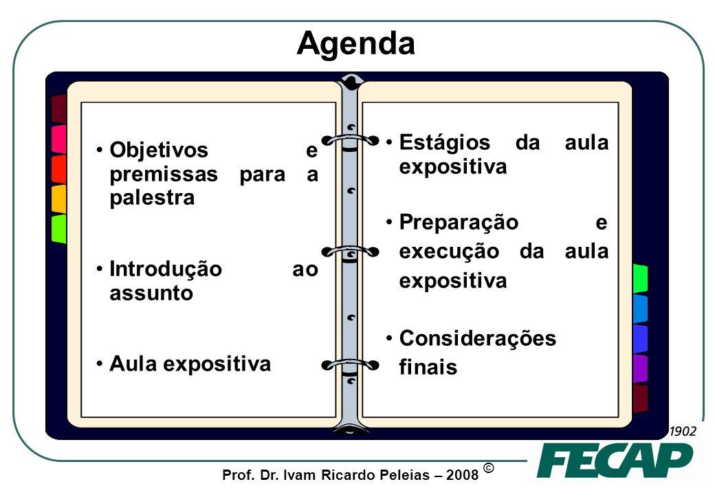 Prof. Dr. Ivam Ricardo Peleias – 2008 © Objetivos e premissas para o seminário