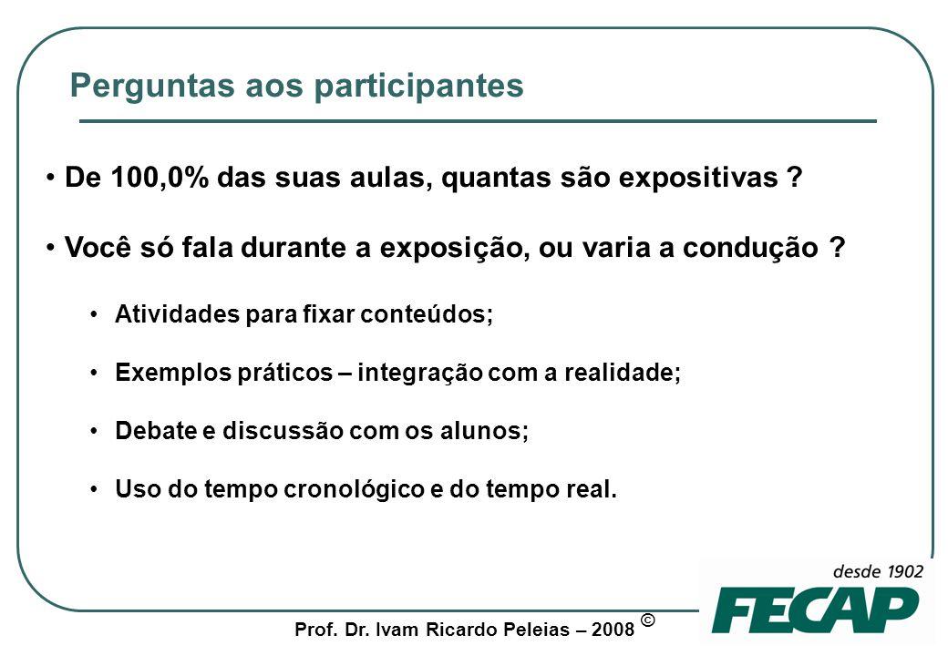 Prof.Dr. Ivam Ricardo Peleias – 2008 © 2 a.