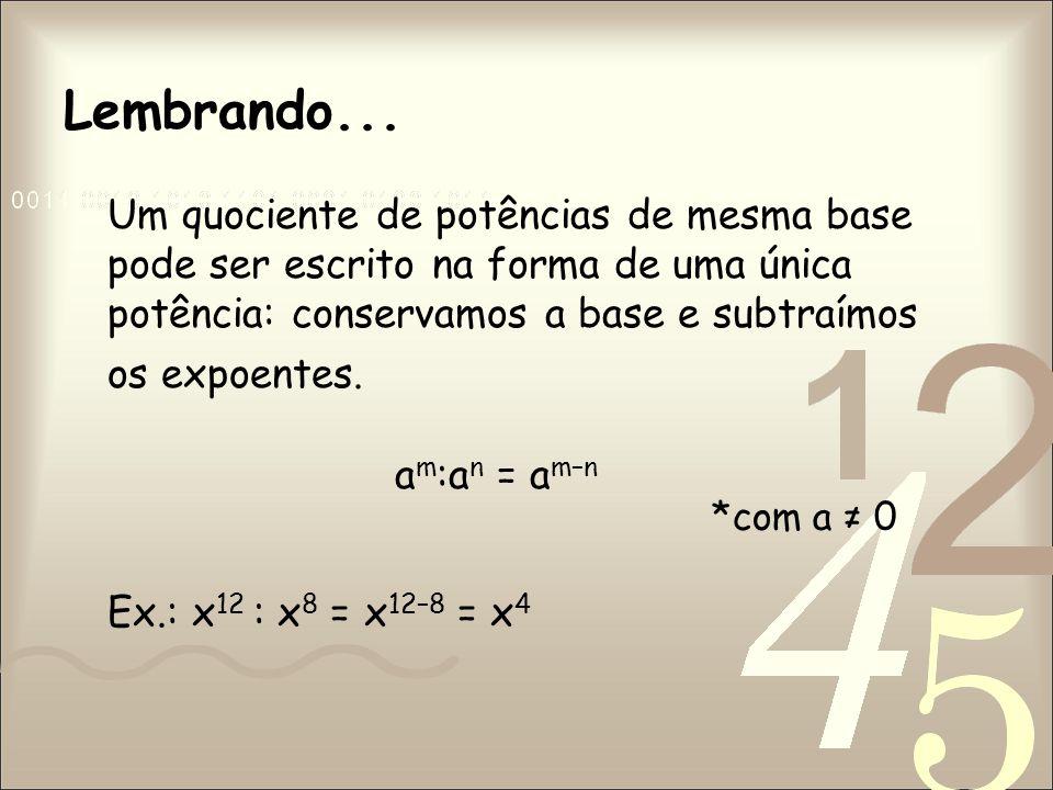Adição de Polinômios Efetue a soma algébrica dos monômios semelhantes.