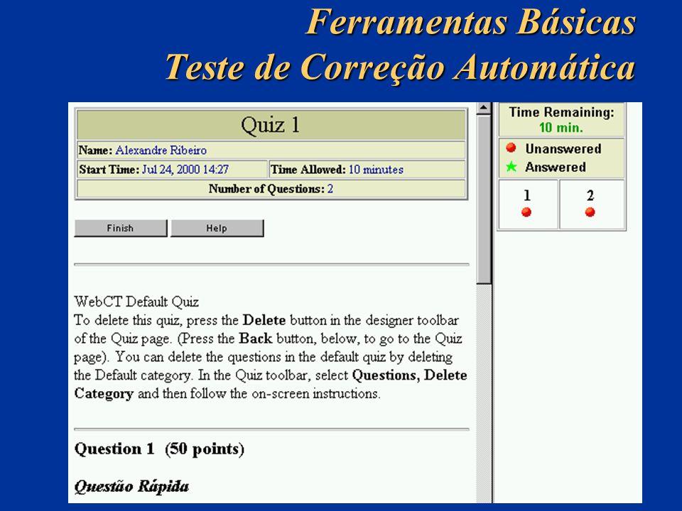 Ferramentas Básicas Teste de Correção Automática
