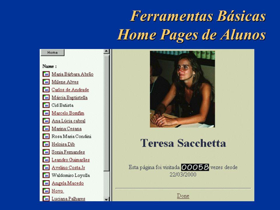 Ferramentas Básicas Home Pages de Alunos