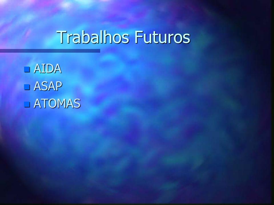 Trabalhos Futuros n AIDA n ASAP n ATOMAS