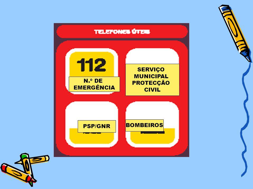 BOMBEIROS PSP/GNR SERVIÇO MUNICIPAL PROTECÇÃO CIVIL N.º DE EMERGÊNCIA