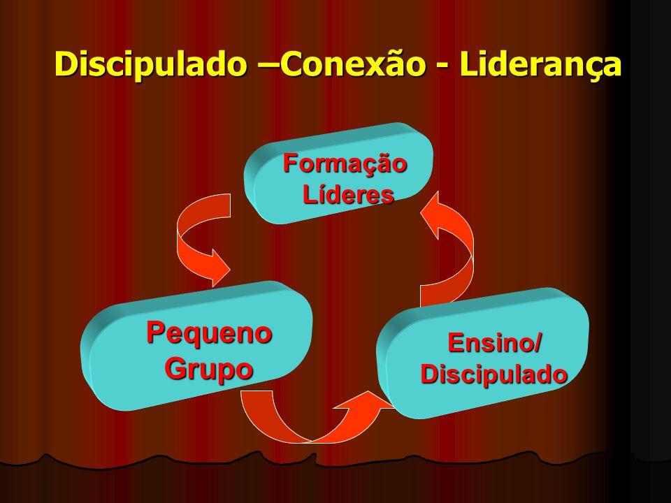 Discipulado –Conexão - Liderança FormaçãoLíderes PequenoGrupo Ensino/Discipulado