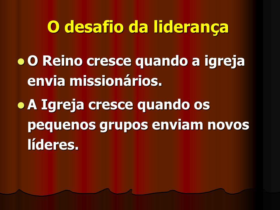 O desafio da liderança O Reino cresce quando a igreja envia missionários.