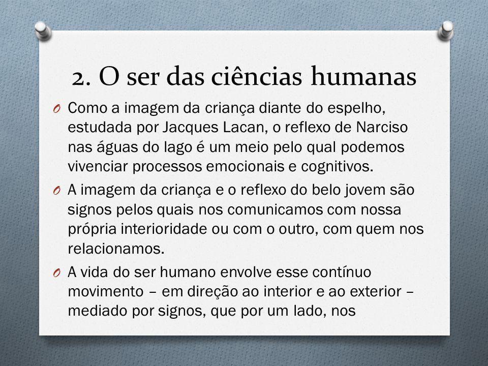 2. O ser das ciências humanas O Como a imagem da criança diante do espelho, estudada por Jacques Lacan, o reflexo de Narciso nas águas do lago é um me