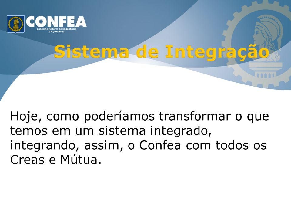 Hoje, como poderíamos transformar o que temos em um sistema integrado, integrando, assim, o Confea com todos os Creas e Mútua.