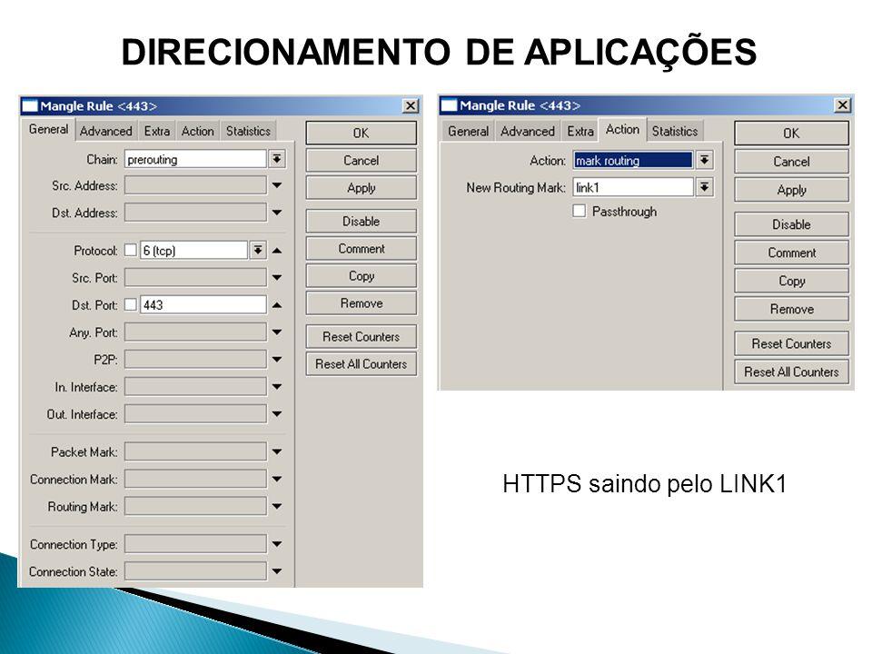 DIRECIONAMENTO DE APLICAÇÕES HTTPS saindo pelo LINK1