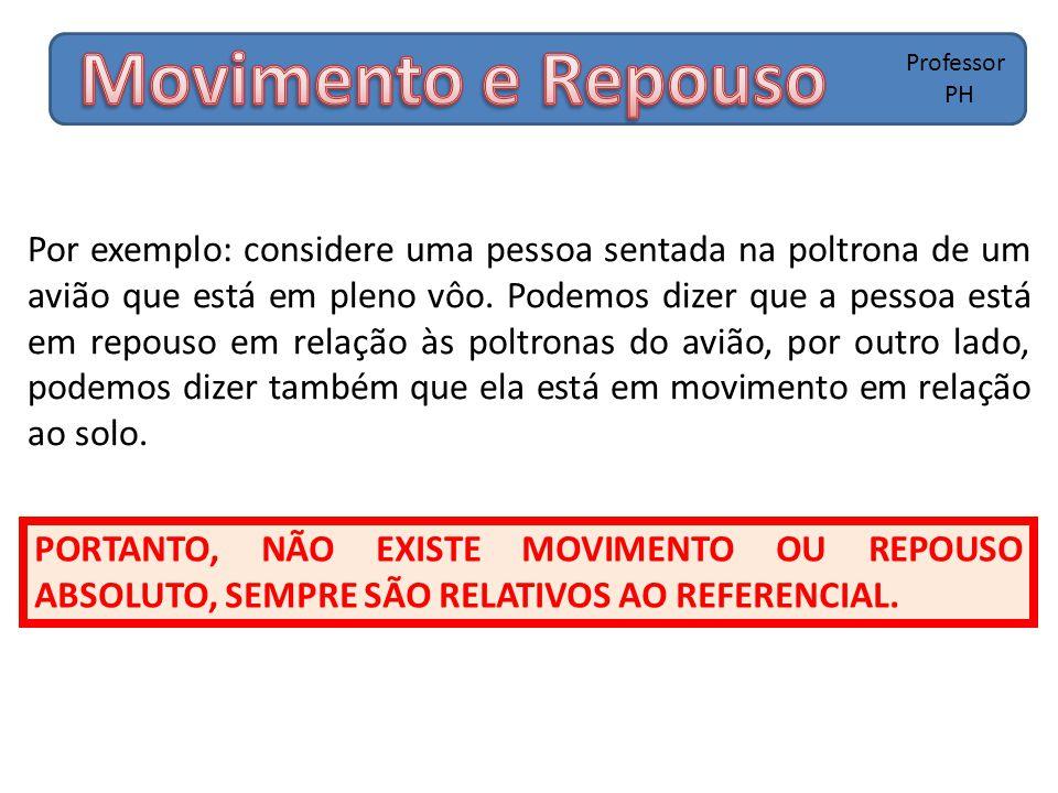 PORTANTO, NÃO EXISTE MOVIMENTO OU REPOUSO ABSOLUTO, SEMPRE SÃO RELATIVOS AO REFERENCIAL.