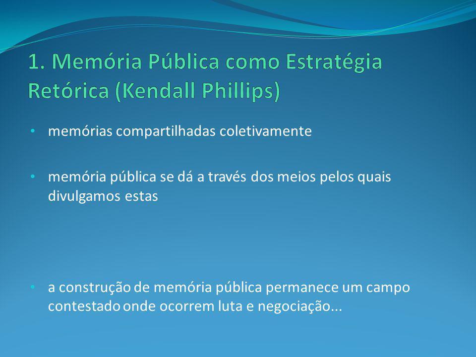 memórias compartilhadas coletivamente memória pública se dá a través dos meios pelos quais divulgamos estas a construção de memória pública permanece