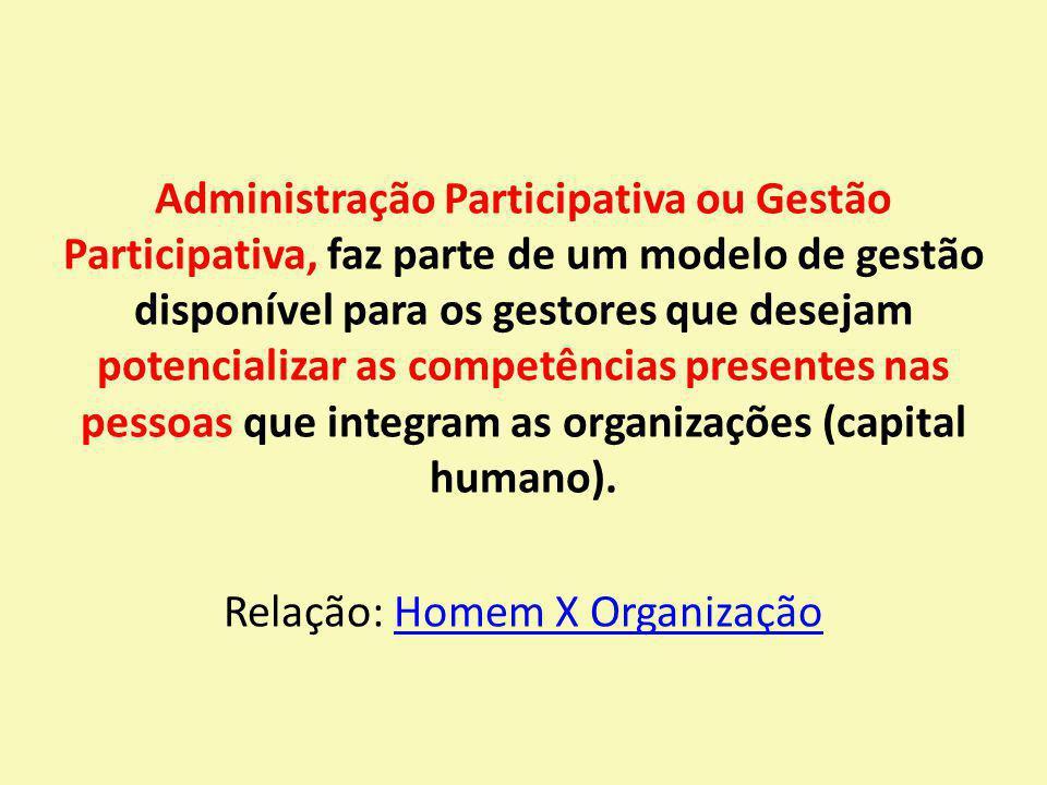 Administração Participativa ou Gestão Participativa, faz parte de um modelo de gestão disponível para os gestores que desejam potencializar as competê