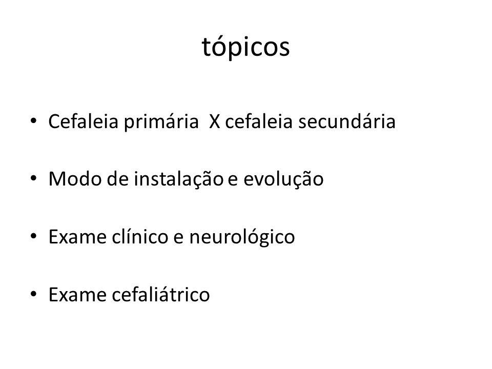 Neurologis ta Cenário 2: Cefaléia aguda emergente Com febreSem febre Sem sinais de alerta: IVAS, dengue e outros Tratament o sintomátic o e/ou antibiótico Com sinais de alerta: Meningite, encefalite, abscesso Suporte básico Hospital Cefaléia súbita (a pior da vida) com sinais de alerta:HSA, AVCi, hidrocefalia aguda, trombose venosa central Neurocirugião Atenção básica