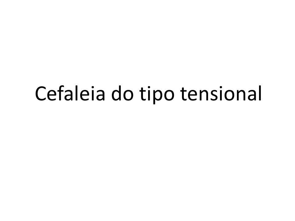 Cefaleia do tipo tensional