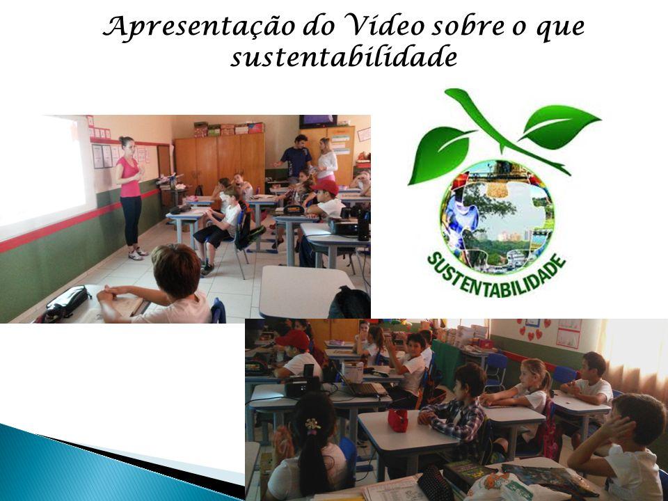 Apresentação do Vídeo sobre o que sustentabilidade