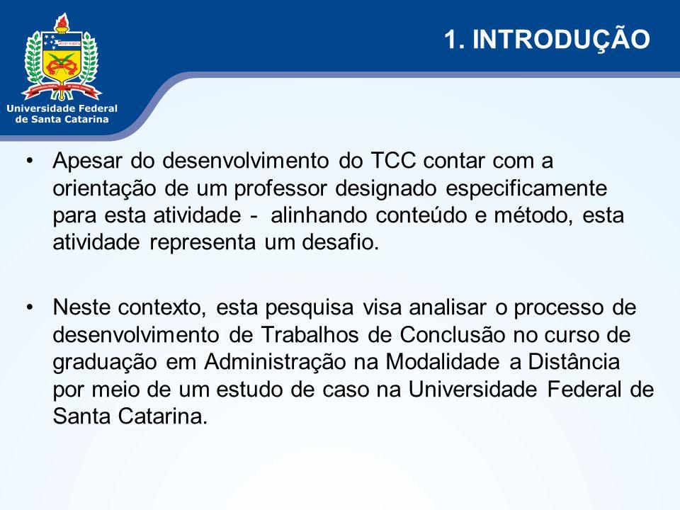 Apesar do desenvolvimento do TCC contar com a orientação de um professor designado especificamente para esta atividade - alinhando conteúdo e método, esta atividade representa um desafio.