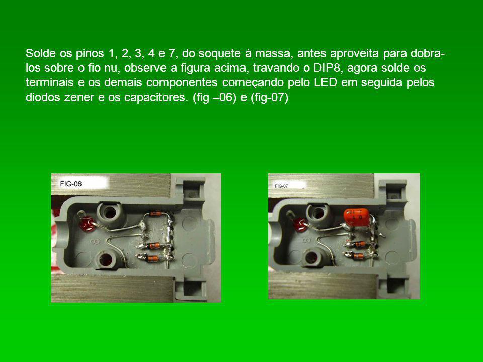 2-) Na segunda parte da montagem que será feita no plug DB9, para facilitar a montagem e devido ao espaço que temos dentro da capa, corte os terminais que não serão utilizados: 1, 2, 6 e 9.