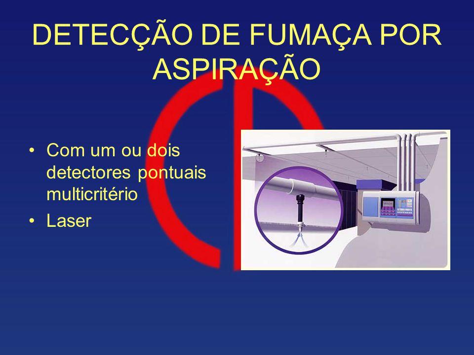 DETECÇÃO DE FUMAÇA POR ASPIRAÇÃO Com um ou dois detectores pontuais multicritério Laser