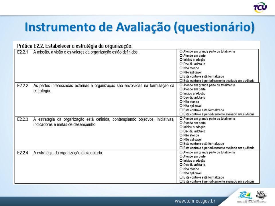 Instrumento de Avaliação (questionário)