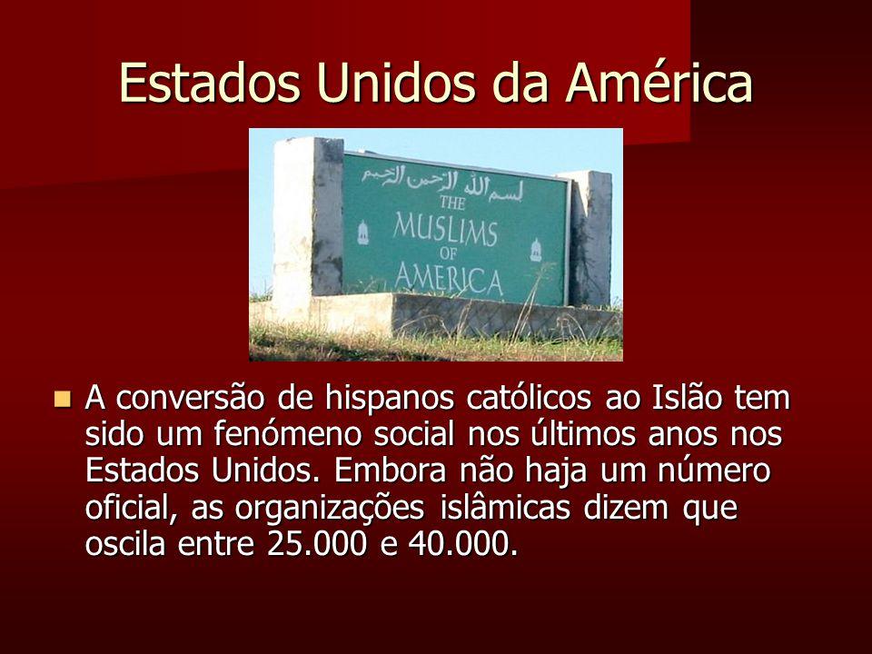 Estados Unidos da América A conversão de hispanos católicos ao Islão tem sido um fenómeno social nos últimos anos nos Estados Unidos.