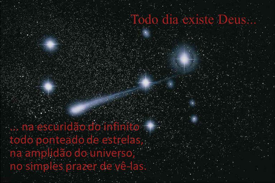 ... na escuridão do infinito todo ponteado de estrelas, na amplidão do universo, no simples prazer de vê-las.