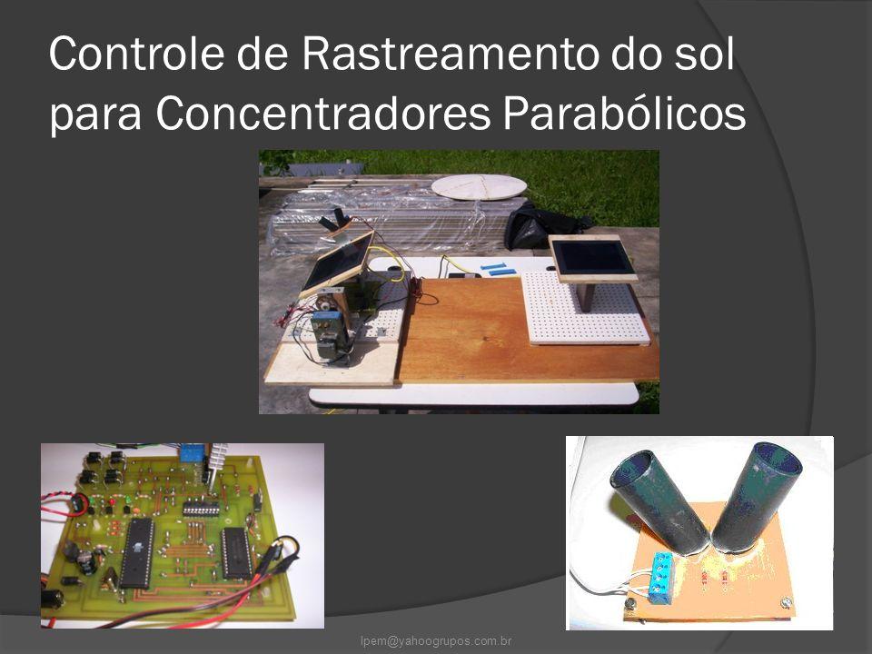 Controle de Rastreamento do sol para Concentradores Parabólicos lpem@yahoogrupos.com.br